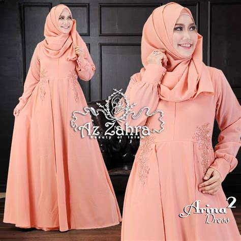 Arina Syar I Purple gamis terbaru busanamuslimpesta pusat grosir baju muslim