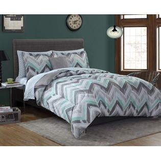 mint green and grey bedding essential home complete bed set chevron gray mint