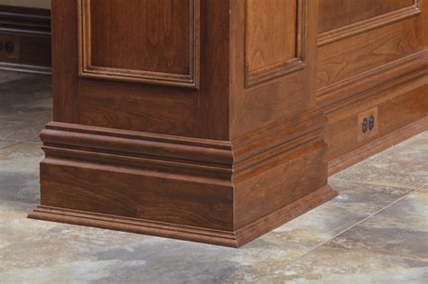 custom cherry baseboard and shoe moulding traditional