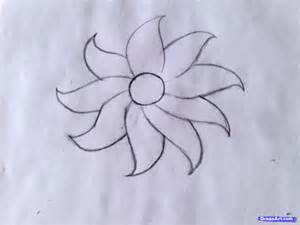 How to draw a flower easy step by step flowers for kids for kids