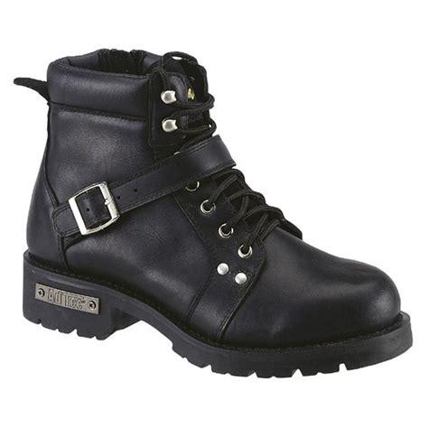 zipper motorcycle boots men s 6 quot ad tec zipper biker boots black 303855
