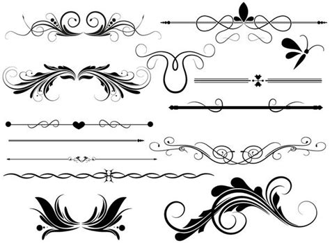 designing stencils photoshop divider page decoration vectors designs brushes shapes