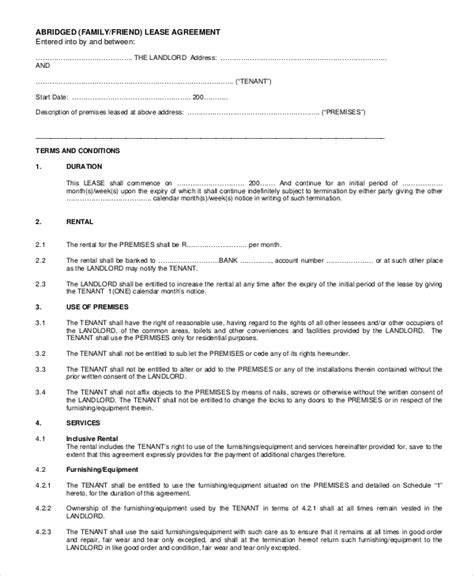 rental agreement letters 11 rental agreement letter templates free sle