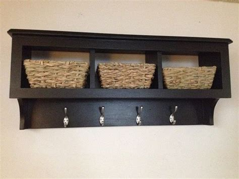 Cubby Organizer Wall Shelf by 36 Quot Cubby Wall Coat Rack Shelf Storage Organizer With Baskets Regular Paint Or Distressed