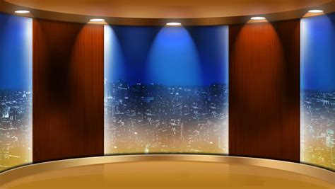 Back Room Interviews by Desk News Background Stock Footage 3421493