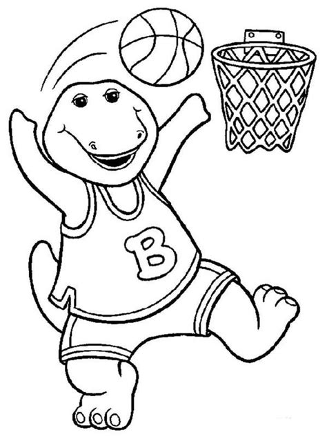 barney the dinosaur coloring pages image mag