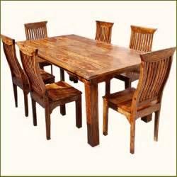 wood dining room set bench