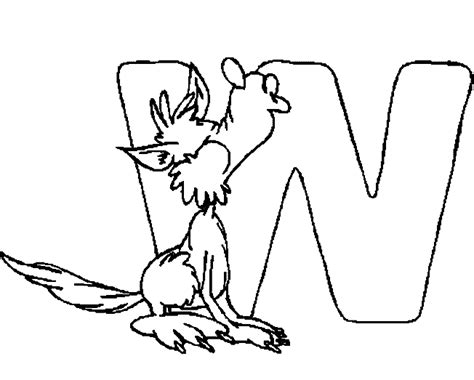 alphabet coloring pages w free coloring pages of w