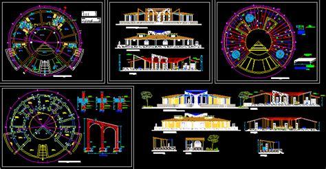 tourist hostel  dwg design full project  autocad