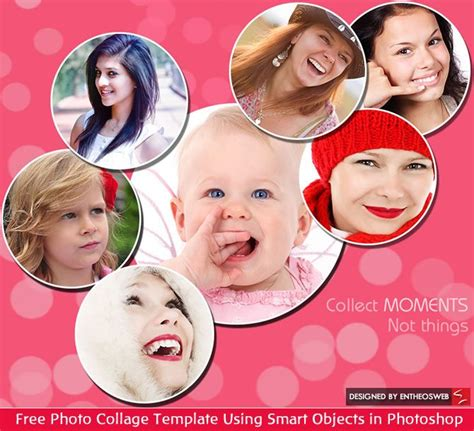design photo collage photoshop free photo collage template using smart objects in
