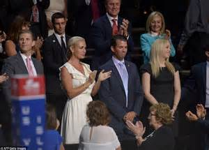 donald family pictures ivanka jabs finger as the entire family shoot daggers at ted daily mail