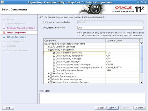 rcu create custom repository journaldev xml and more creating the required schemas for oracle