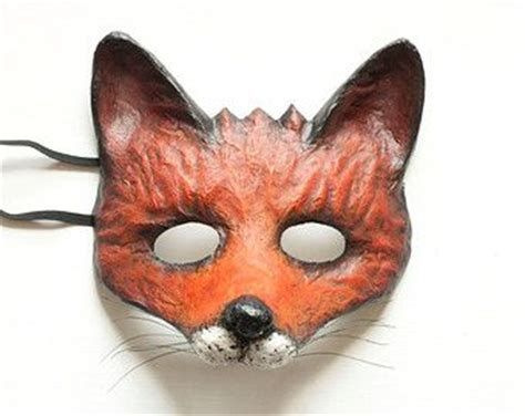 How To Make A Paper Fox Mask - the 25 best animal masks ideas on paper plate