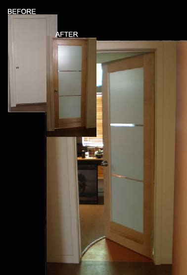 Contemporary Glass Panel Interior Doors Modern Interior Glass Doors Frosted Glass V Grooved 3 Lite