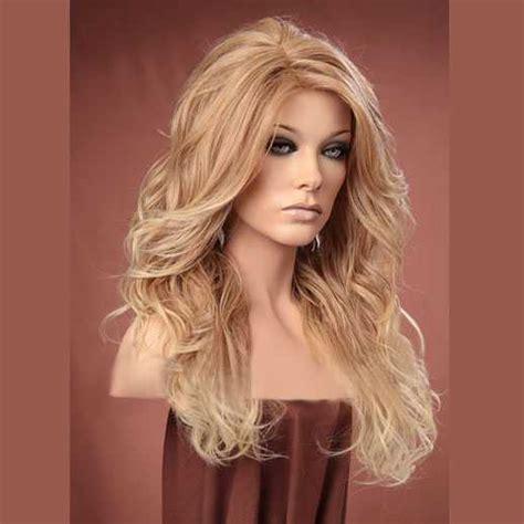Haar Modellen by Pruik Lang Haar Blondmix Met Krullen Model Gabby T27 613