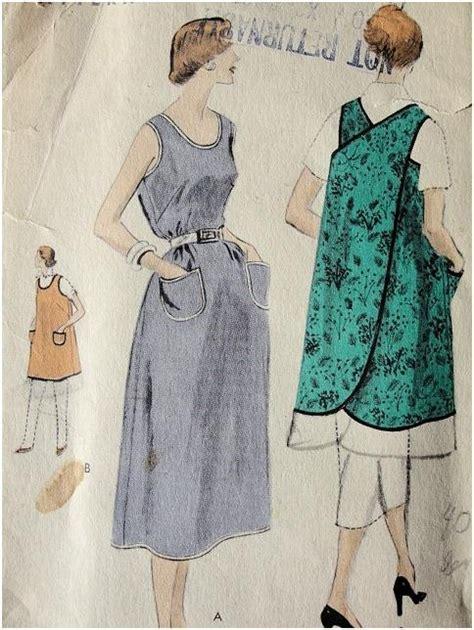 vogue pattern apron vogue 8159 slip over dress or apron 1950s i have this