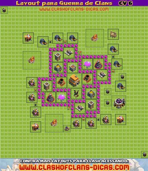 layout cv 6 guerra cl 227 gta do clash layout de vilas