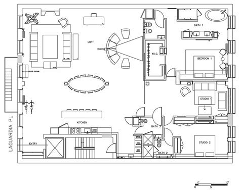 loft layout floor plan loft in noho new york city
