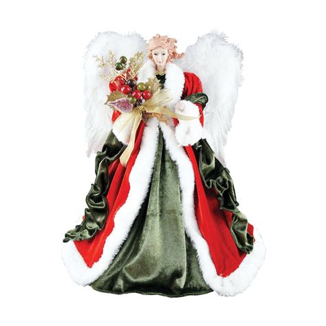 shop santa s workshop 16 in red polyester angel christmas