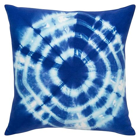 Tie On Chair Cushions by Tie Dyed Blue Cushion 45x45cm Hupper