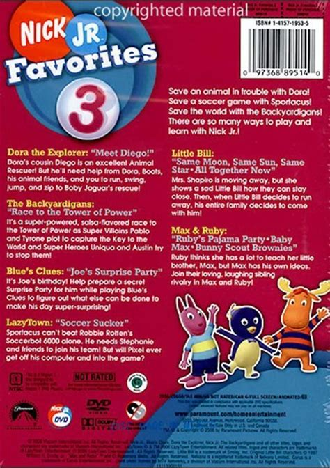 Favorites Book 3 nick jr favorites volume 3 dvd 2006 dvd empire