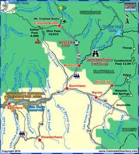 map of gunnison colorado gunnison local area map colorado vacation directory