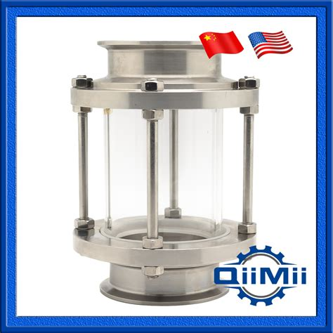 Sanitary Ss304 Dia 6 Inch 1 inch sanitary inline tri cl sight glass ss304 pipe viewer in pipe fittings from home