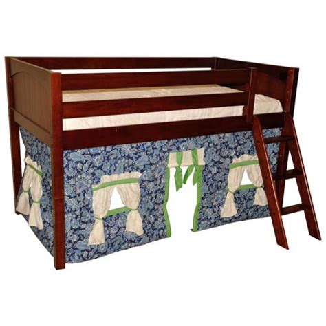 bunk bed playhouse curtains bold blue green paisley playhouse w maxtrix kids loft or