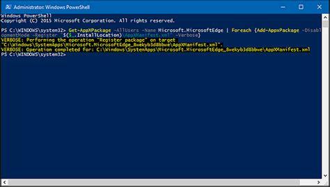 resetting windows edge how to reset microsoft edge in windows 10