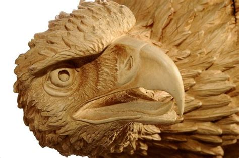 wood carving eagle picture  kirchhofer swiss arts