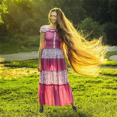 real like rapunzel has 64 inch hair she refuses to get cut woman didn t cut her hair for 13 years and it s