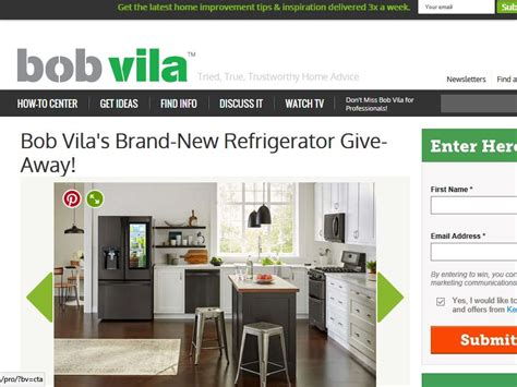 Refrigerator Sweepstakes - bob vila s brand new refrigerator give away sweepstakes
