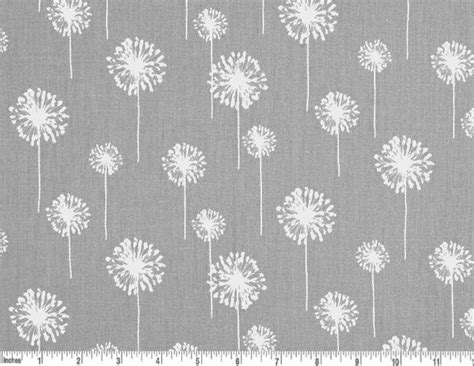 grey pattern curtain fabric dandelion cotton fabric drapery fabric grey and white