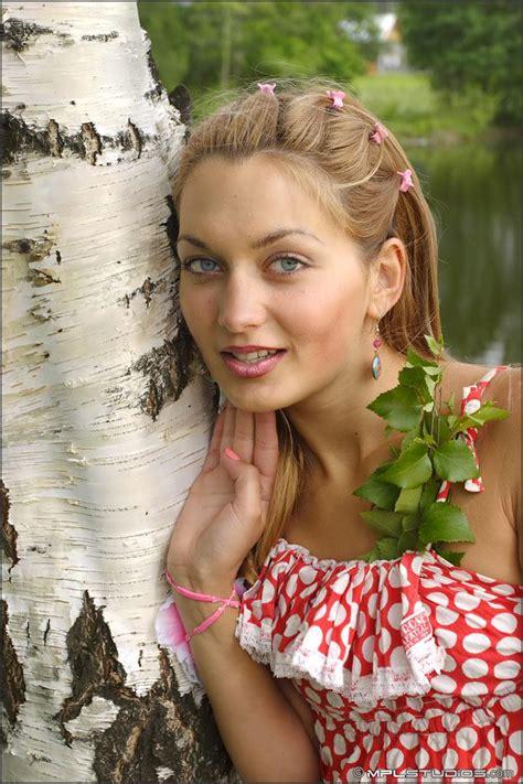 mpl models mpl studios presents lilya in quot polka dot quot coed cherry