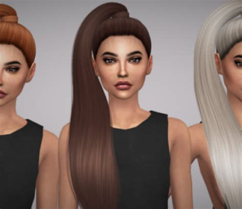 custom hair for sims 4 the sims 4 female hair custom content downloads