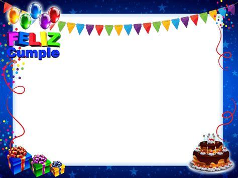 imagenes en png de cumpleaños marco de feliz cumplea 241 os azul con tarta y regalos