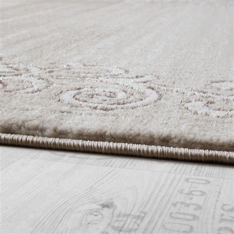 teppich creme designer teppich glitzergarn creme wei 223 design teppiche