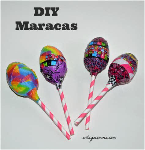 Handmade Maracas - maracas recycled craft for cinco de mayo
