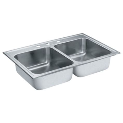 33x22 stainless steel sink moen s22317 lancelot 33x22 drop in stainless steel sink