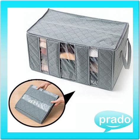 Storage Box 65 Liters Bambo Charcoal Clothing Boxes Tempat Baju 2 bamboo charcoal clothes storage bag end 4 27 2018 4 15 pm