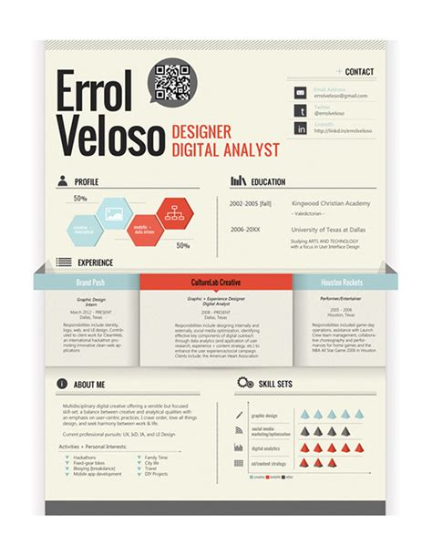 best color for resume 10 cool resumes made by professional graphic designers