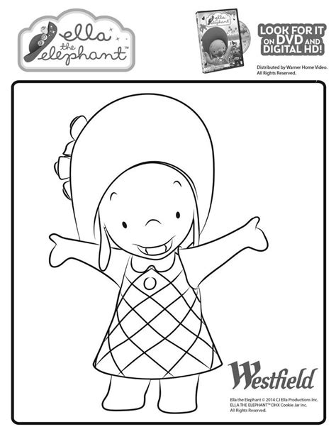 ella elephant coloring pages free coloring pages of ella the elephant