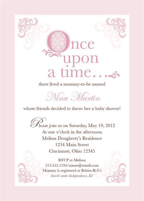 Fairytale Baby Shower by Pink Fairytale Baby Shower Invitation By Thechirpyloft On