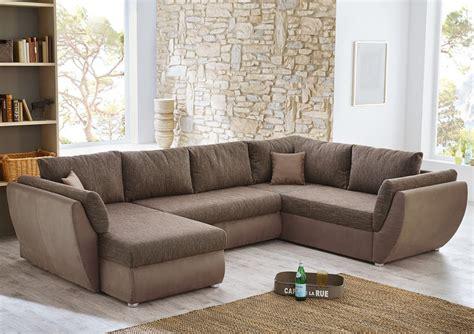 wohnlandschaft couchgarnitur xxl sofa  form braun