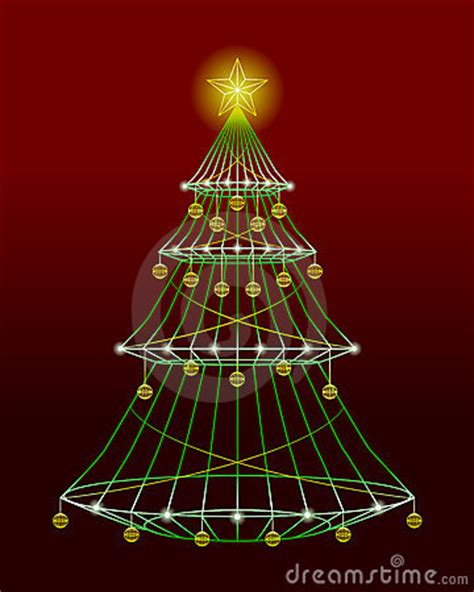 wireframe xmas tree stock images image 6015284