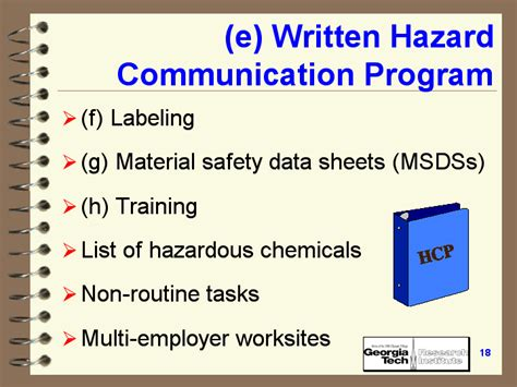 E Written Hazard Communication Program Hazard Communication Program Template