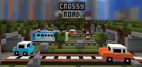minecraft car pe crossy road pe modded map minigame minecraft pe maps