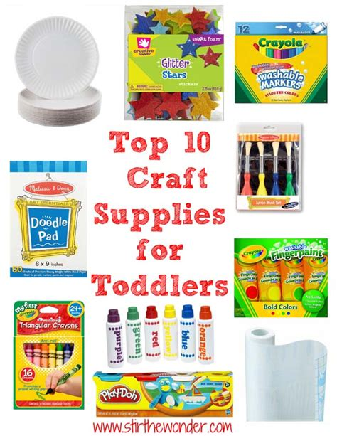 arts and craft stores me top 10 craft supplies for toddlers stir the