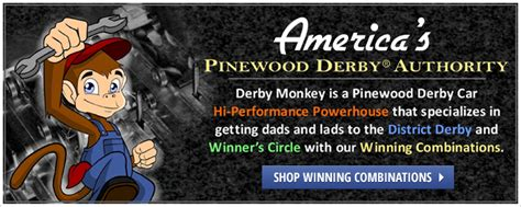 Derby Monkey Garage Templates by Pinewood Derby Cars Parts Free Design Templates