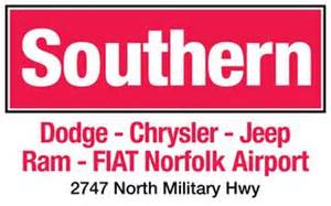 Southern Dodge Chrysler Jeep Ram Fiat Dealers In Portsmouth Va 23703